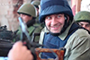 Михаил Пореченков в донецком аэропорту. Видео